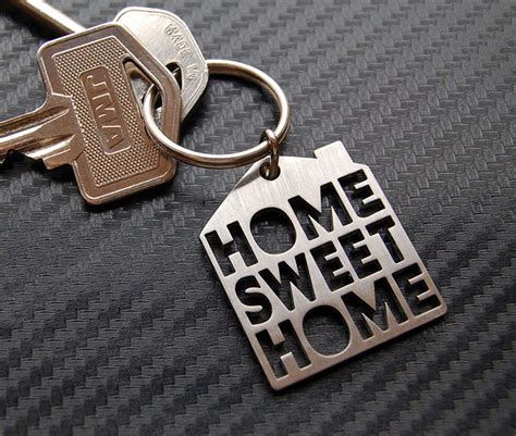 home sweet home new house moving gift keyring keychain key