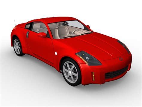 nissan sports car models nissan 350z coupe 3d model 3d studio 3ds max files free