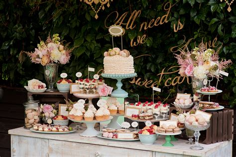 Dessert Table by Dessert Tables Puddles The Cake Company