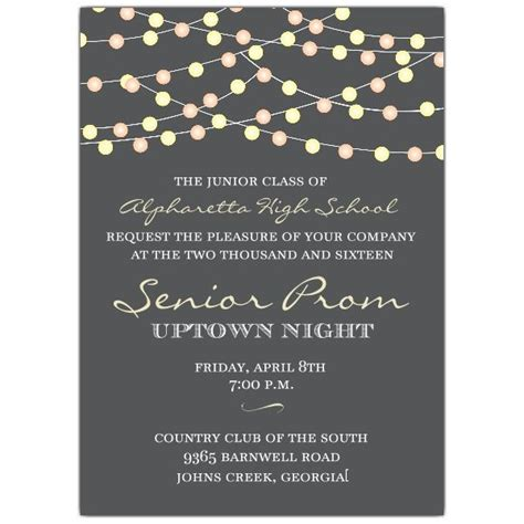 prom invite ideas night lights prom invitations party ideas pinterest