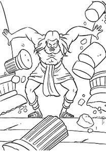 samson and coloring pages coloring home