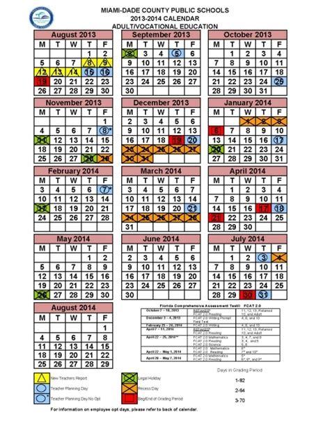 miami dade school calendar 2014 printable calendar 2018