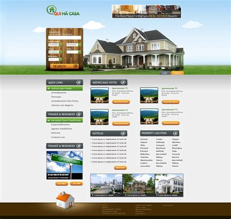 real estate wordpress template by think360studio on deviantart