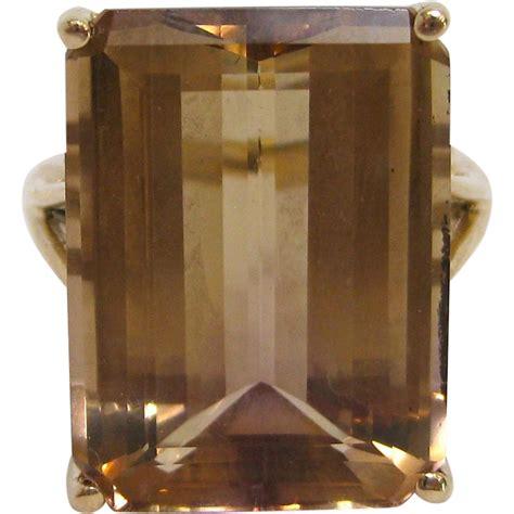 Citrine Gold Cutting 908 17 carat emerald cut citrine cocktail ring in 14k gold kirsten s corner ruby
