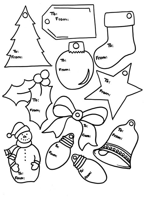 printable christmas tags to color free printable christmas gift tags to color images