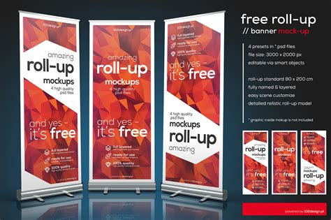 Free Up by Free Psd Roll Up Mockup On Behance