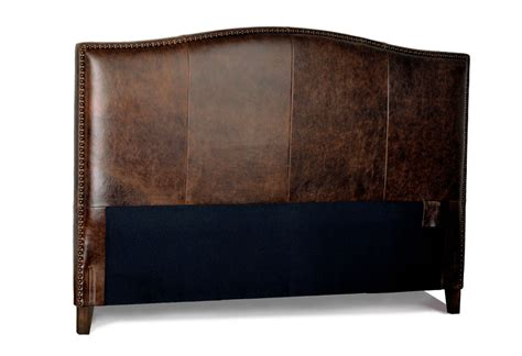 king size antique brown leather headboard for bed with