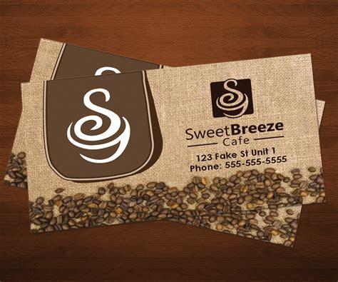 cafe business card template modern business card design by arjun p haridasan