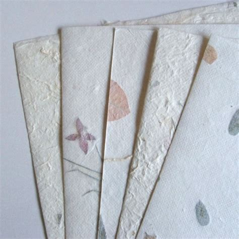 Handmade Paper Sheets - mulberry handmade paper floral assorted 10 sheets