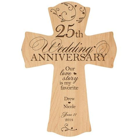 Personalized 25th Anniversary Gift for couple 25th wedding