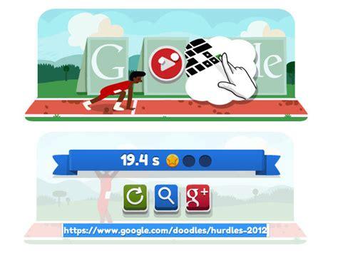 doodle jeu essayez vous au 100m haie avec le doodle du jour