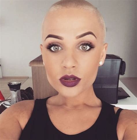 womens buzzed and bold haircuts 65 best bald women images on pinterest shaved hair