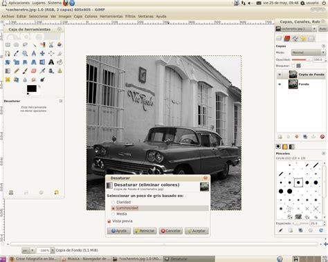 poner imagen blanco y negro gimp tutoriales gimp tutorial de como poner una imagen en