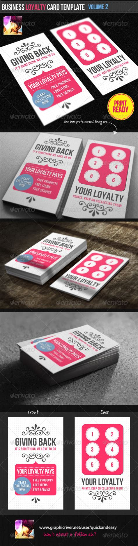 loyalty business cards templates business loyalty card template vol 2 by quickandeasy