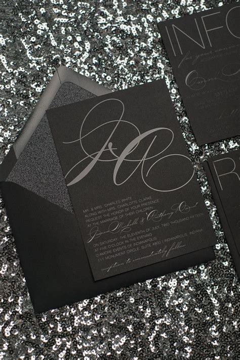 Black Wedding Invitations by 25 Best Ideas About Black Wedding Invitations On
