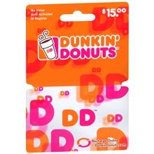 Where To Buy Dunkin Donuts Gift Cards - dunkin donuts 15 gift card walgreens