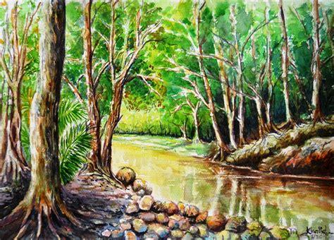 psv kertas  spm pemandangan sungai   hutan