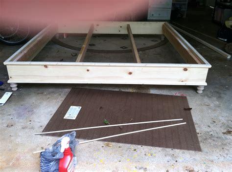 woodwork king size bed frame plans platform  plans