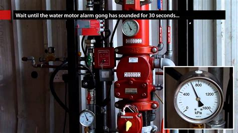 Alarm Gong Viking testing an alarm valve with bellcheck