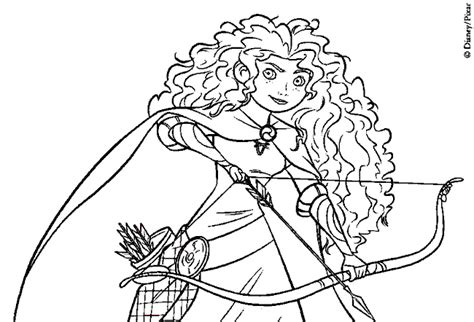 princess merida coloring page coloring books brave merida the princess to print and
