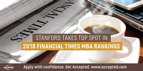 Mba Secondary Program 2018 by Stanford Takes Top Spot In 2018 Financial Times Mba