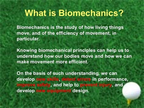 golf swing phases biomechanics and golf