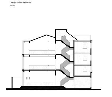 split level section gallery of rethinking the split house neri hu design