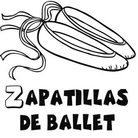 dibujos infantiles zapatillas dibujo para colorear de zapatillas de ballet
