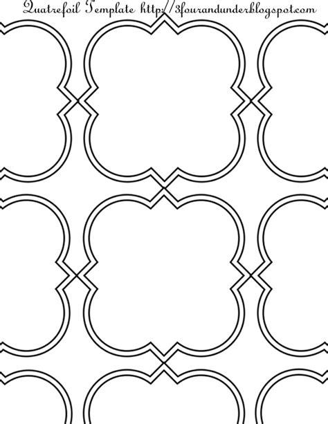 printable quatrefoil template 6 best images of quatrefoil stencil printable template