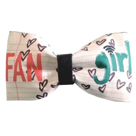 doodle hair bow fangirl inspired doodle hair bow or bow tie geeky