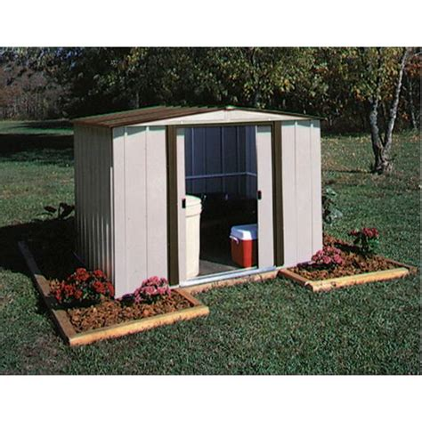 Osh Shed by Arrow Bedford Steel Shed 8 X 8 Metal Sheds Outdoor