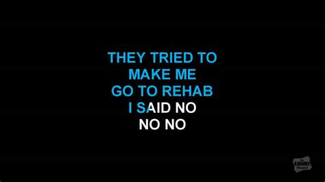 rehab winehouse testo rehab in the style of winehouse karaoke with