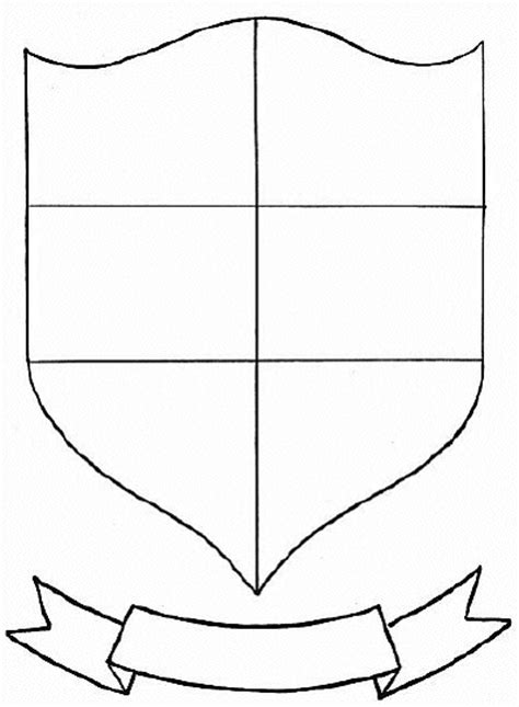 coat of arms printable template 14 best images of printable transition worksheets