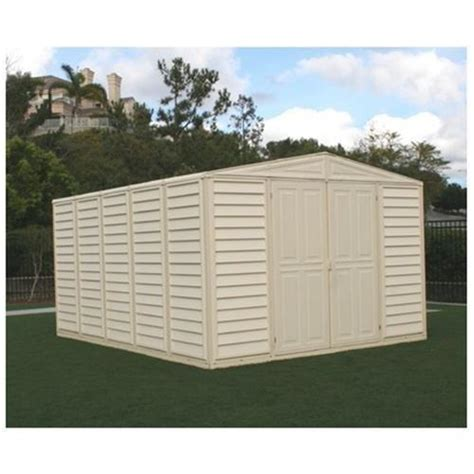 Duramax Sheds Reviews by Duramax Wood Bridge Vinyl Outdoor Storage Shed 00581 10