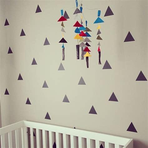 Modern Nursery Wall Decals Modern Nursery Wall With Triangle Decals Cuteness Instagram Photo By Walls Urbanwalls