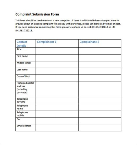 ppi template form sle financial ombudsman service complaint form 8