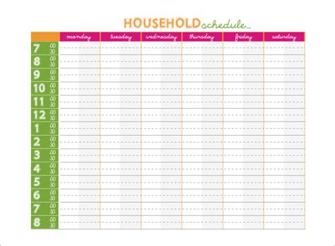 free family calendar template family schedule templates 14 free word excel pdf