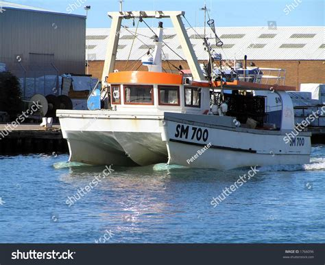 modern fishing boat images modern fishing boat setting out stock photo 1766096