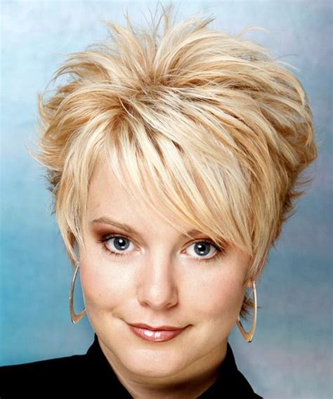 hair cuts away from face short layered hairstyles for women over 50 with round