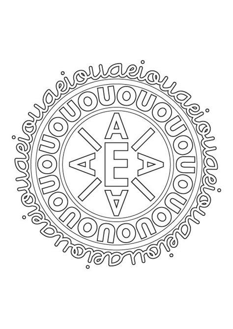 imagenes de mandalas de musica mandala de letras dibujo para colorear e imprimir