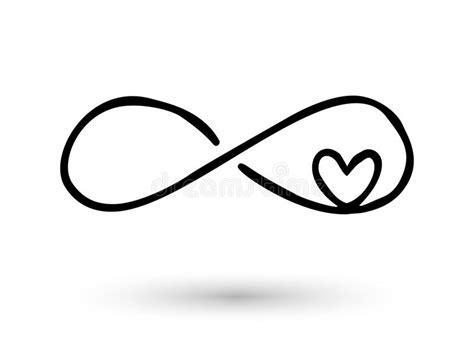 Infinity Symbol Hand Drawn With Ink Brush Stock Vector Illustration Of Abstract Concept Infinity Symbol Photoshop Template