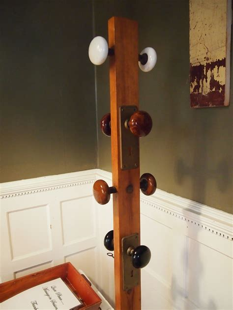 coat rack made out of door knobs home decor