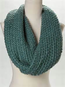 Knitting Infinity Scarf Teal Knit Infinity Scarf Scarves