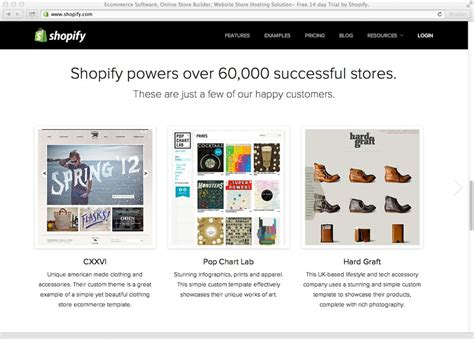 Building Your Ecommerce And Design Business With Shopify Treehouse Blog Shopify Homepage Template