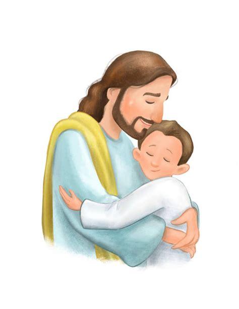 imagenes de jesucristo abrazando a un niño regalo de bautismo para ni 241 o ni 241 o abrazando dibujos animados