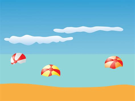 Summer Beach And Balls Backgrounds Holiday Nature Travel Templates Free Ppt Backgrounds Summer Powerpoint Template