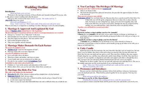 Wedding Ceremony Outline by Best Photos Of Wedding Ceremony Program Outline Sle