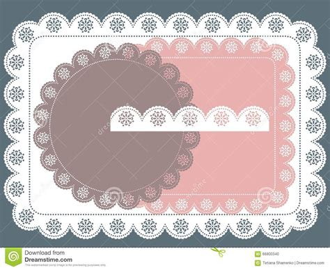 Set Square Lace Cc lace frame stock vector image 66800340