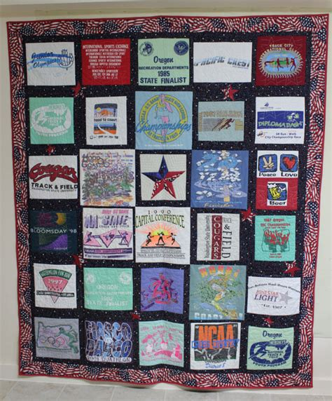 T Shirt Quilt Blocks by T Shirt Quilt With 30 Blocks