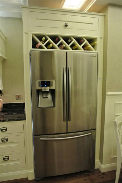 kitchen cabinet wine rack ideas image result for built in wine rack above fridge wine